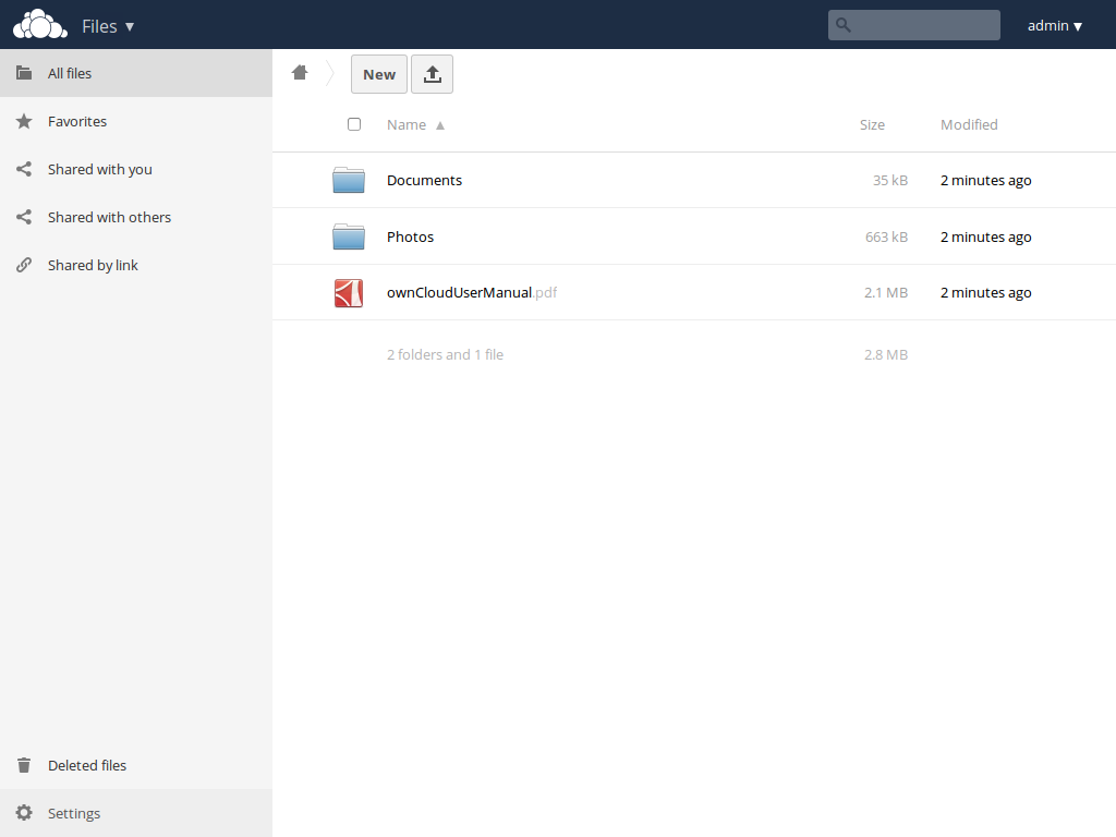 ownCloud Screenshot #2