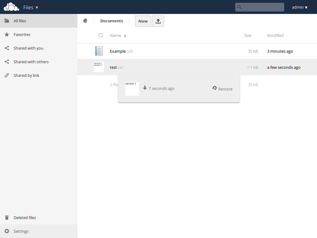 ownCloud Screenshot #4